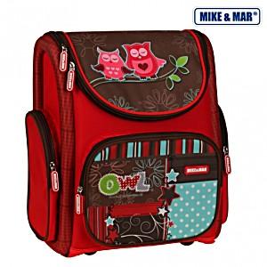 Школьный рюкзак раскладной Mike&Mar Майк Мар Сова 5040-ММ-12 + пенал