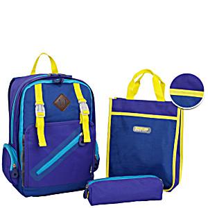 Школьный рюкзак – ранец JWORLD KIDS арт. BP-008K BLUE с сумкой для обуви и пеналом