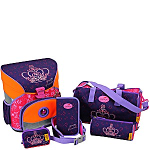 Школьный ранец DerDieDas для первоклассника с наполнением Корона Принцессы + нагрудный ремень
