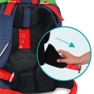Школьный ранец DerDieDas ErgoFlex XL с наполнением Диско + нагрудный ремень, - фото 11