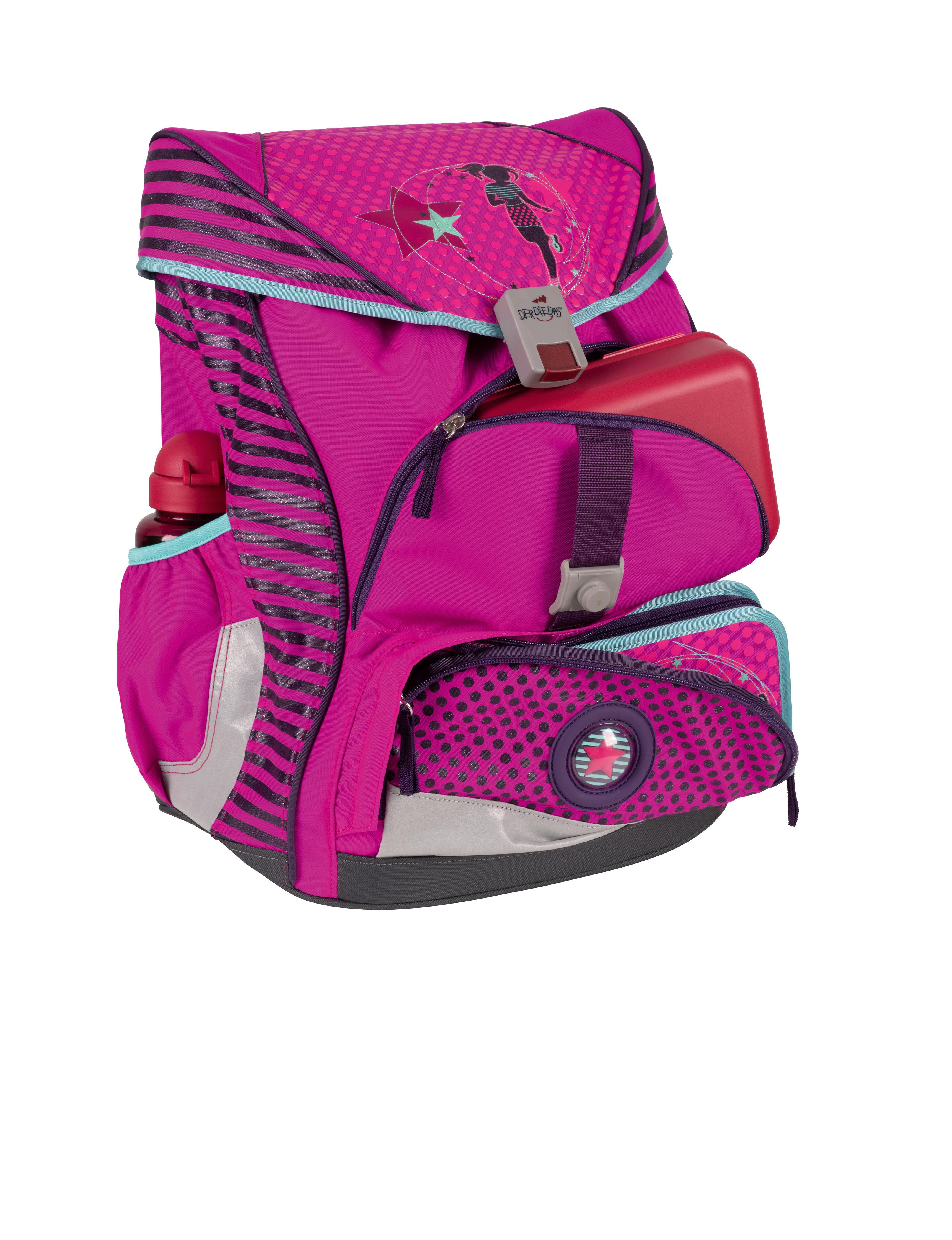 Школьный ранец DerDieDas ErgoFlex XL с наполнением Диско + нагрудный ремень, - фото 2