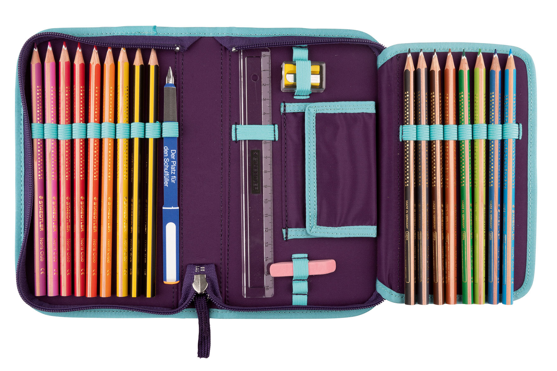 Школьный ранец DerDieDas ErgoFlex XL с наполнением Диско + нагрудный ремень, - фото 7